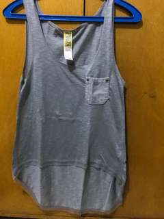 Brand Name: Folden and Hung (F&H) Grey Hanging Top