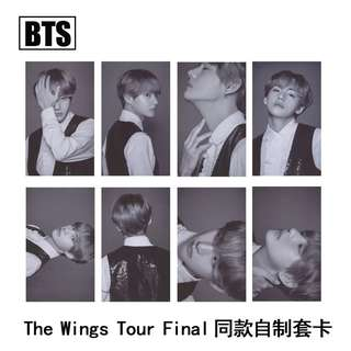 BTS THE WINGS TOUR V UNOFFICIAL PHOTOCARDS
