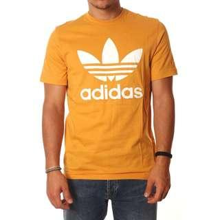 Adidas original 三葉草 logo 基本款 芥末黃  BQ7927