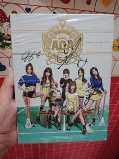 "AOA 3rd mini album ""heart attack"" with signed all member"