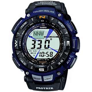 CASIO PRO TREK PRG-240 series PRG-240B TOUGH SOLAR 光動能 藍色 PROTREK PRG240B