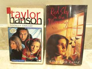 🚚 💰🎈#HariRaya35 GSS SALE!! (U.P:$6)🔥 FIRE SALE!!!🔥 TOTALLY TAYLOR!! TAYLOR HANSON FANS / RED SKY IN THE MORNING (FAMOUS LITERATURE BOOK BACK IN MY SCH DAYS) FOR SALE!!! LIMITED STOCKS!! HURRY WHILE STOCKS LAST!!! PRICE INCLUDE POSTAGE!!