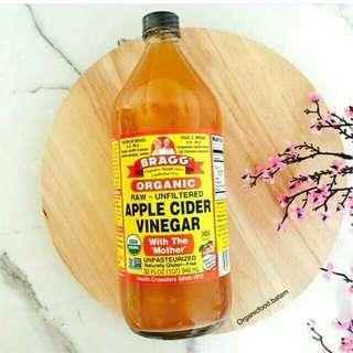 Bragg Organic Apple Cider Vigenar/Cuka Apel Organik (💯 ORI)