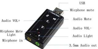 USB Sound Card Adapter v1- classic