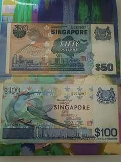 SINGAPORE Birds Series $50 & S100