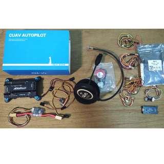 雷迅cuav 飛控apm 2.6 彎針 含減震版 xt 60 電壓電流傳感器 杜邦線 jump