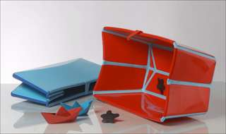 Flexi Bath Stokke® Foldable Baby Bath (Red / Blue)