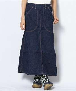 日本Beams Boy 牛仔長裙 日本製