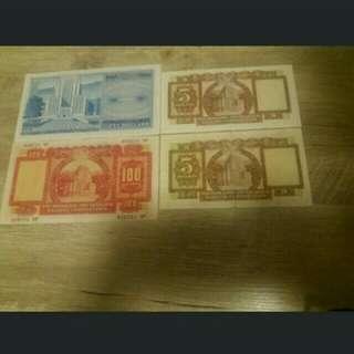 匯豐100,50連錯版5蚊紙