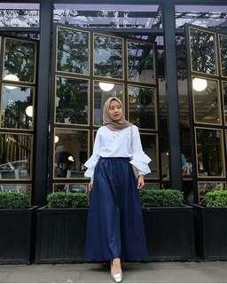 WDD - 0318 - Setelan Muslim Wanita Blouse Tara Set Plus Rok