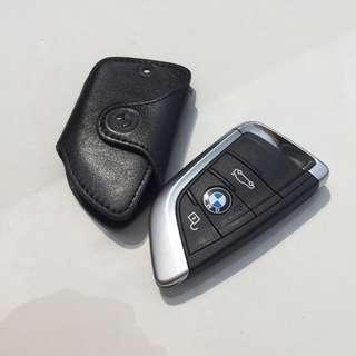 BMW Key Fob Holder Black Leather