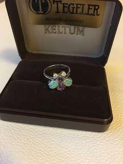 18K蛋白石紫晶鑽石介子
