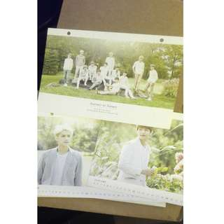 Exo Nature Republic 月曆卡