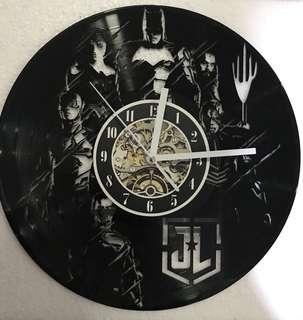 Justice League Vinyl Record Wall Clock Lamp