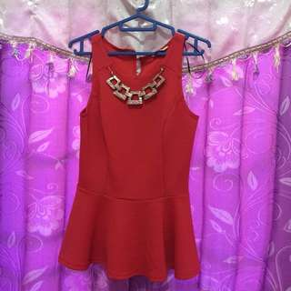 New look top red