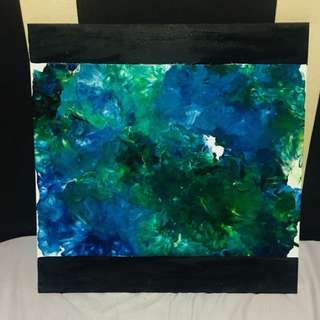 Abstract painting The Undersea