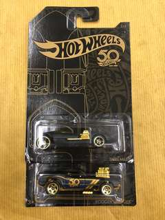 Hot Wheels 50th gold and black Ver. Lot