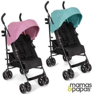 購自專櫃英國mamas&papas cruise玫瑰粉傘車*附杯架及雨罩9.5成新*原廠保固