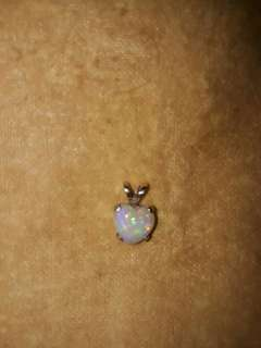 Genuine Opal pendant  7mm heart (price not negotiable)