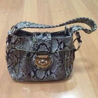 New:GUESS gray handbag