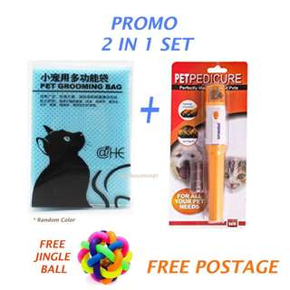PROMO SET - Grooming Bag + Nail Trimmer (Cat / Dog / Grooming Set)