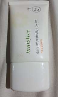 Innisfree sunscreen no sebum