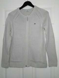 Lacoste sweater with front zipper, size 40