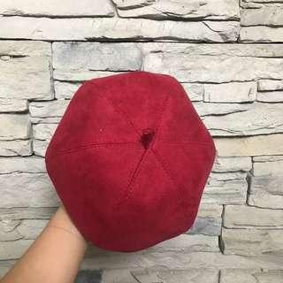 南瓜🎃酒紅畫家帽