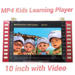 MP4 10INCH FULL HD KIDS LEARNING VIDEO PLAYER / MEMORY CARD VIDEO ONLY