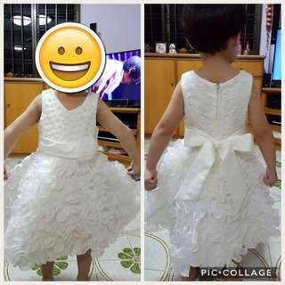 Preloved Girl's Sleeveless White Dress