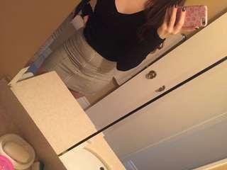 Brandy Melville high waisted skirt vertical stripes size small