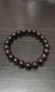 Garnet Cystal bracelet 9mm 石榴石