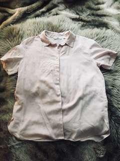 Uniqlo soft pink top