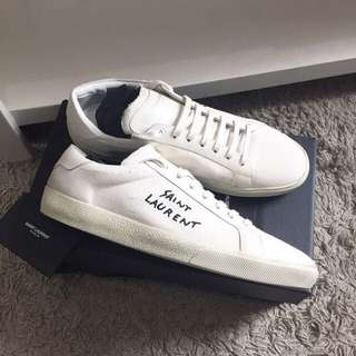 Saint laurent distressed trainers