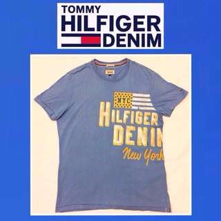 🚹《TOMMY HILFIGER DENIM》二手 藍色 短袖T恤