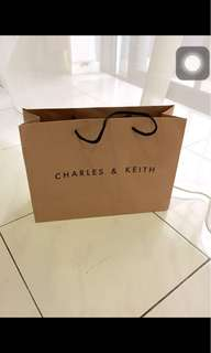 Charles & Keith ( paper bag )(13,9 & half & 4 & half inc)