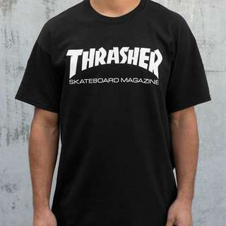 thrasher black tshirt