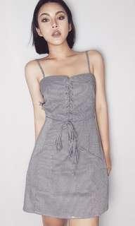 🚚 歐美款❤️細肩帶高腰綁帶洋裝