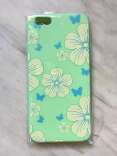 iPhone 6/6s mint green wid flowers silicon case