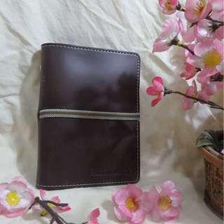 Pocket Size Brown Leather AGENDA (Agenda Kulit Sintetis Coklat Ukuran Saku) - Cocok untuk Pelajar/Mahasiswa/Pekerja untuk Catatan dan Notes