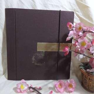 Brown Elegant Binder with Multi-Pocket (Binder Coklat Elegant dengan Multi-Kantong) - Cocok untuk Pelajar/Pekerja/Mahasiswa (Untuk Kertas A4)