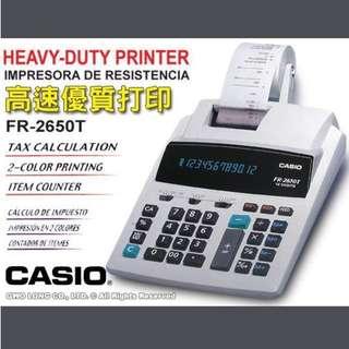 Casio Have-duty calculating printer 計數打印機