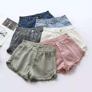[PO] Fringe Hot Pants Denim Shorts (14)
