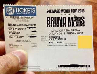 VIP 2 Bruno Mars 24K Magic Tour Manila