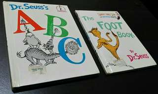Set of 2: Dr. Seuss's ABC (HB) and The Foot Book (HB)