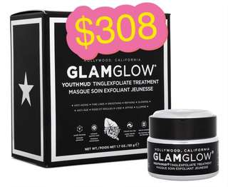 Glamglow youthmud tinglexfoliate treatment 發光面膜