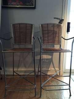 Rustic bar chairs