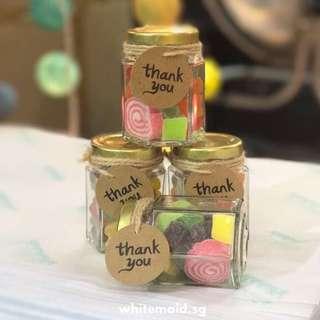 PO Chewy Gummy Candy Filled Jar Berkat Favor