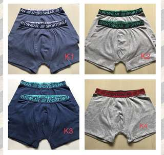 Boys boxer for tall 146-152 cm ,10-12 year old, 1 for $3, 3 above $2 each