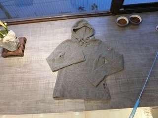 JOJO 100%小羊毛連帽毛衣 深灰色